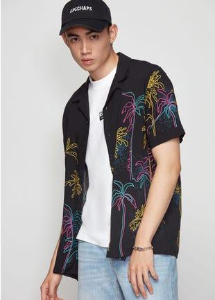 Retro Palm Tree Resort Shirt