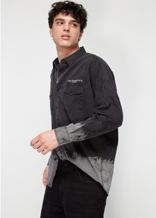 Dip Dye Jean Shirt