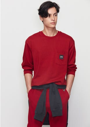 Relaxed Fit Long Sleeve Tee