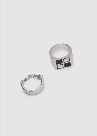 Checkerboard Ring Set