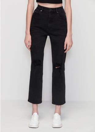 Ripped Black Slim Fit Jeans