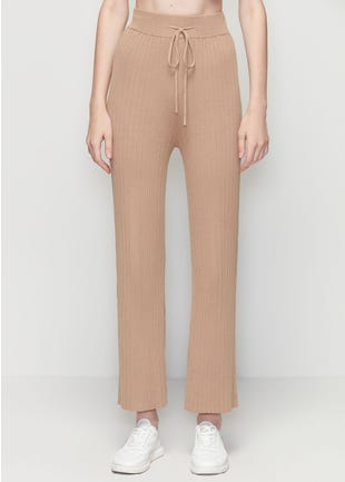 Ribbed Drawstring Trousers