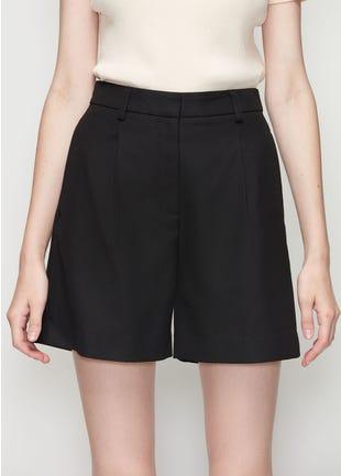 Black Wide Leg Shorts