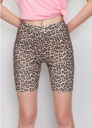 Leopard Print Biker Shorts
