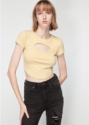 Cropped Cut Out Tee