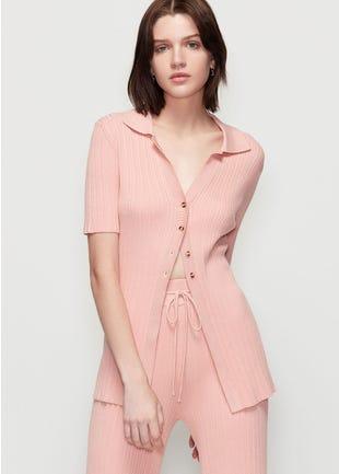 Ribbed Short Sleeve Shirt