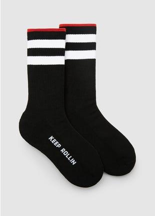 Black Keep Rollin Socks