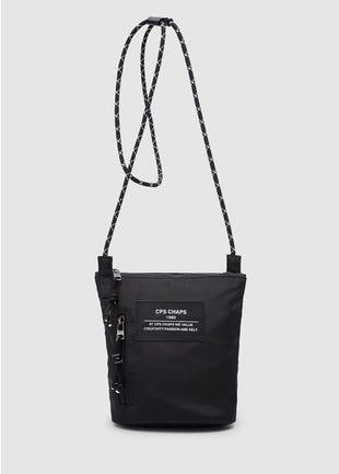 Double Zip Nylon Shoulder Bag