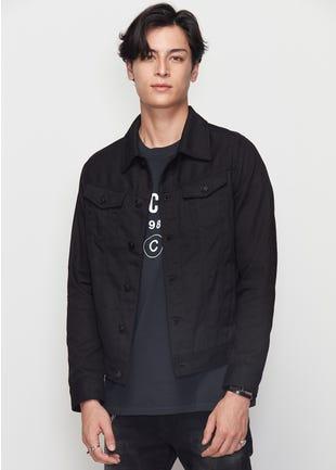 Cotton Twill Biker Jacket