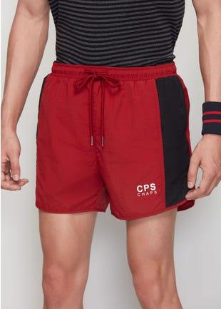 Red Drawstring Shorts