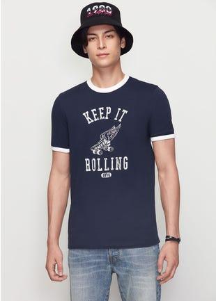 Keep It Rolling Ringer Tee
