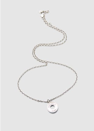 Skate Bearing Necklace-4058203-SILVER