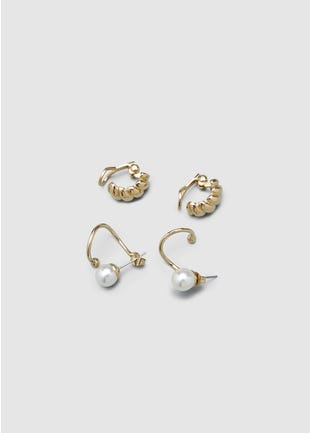 Gold Plated Earrings Set