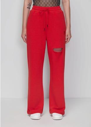 Red Drawstring Pants