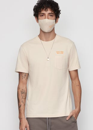 Pocket Tee with Matching Fabric Mask