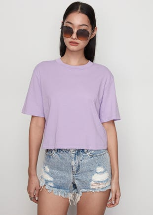 Cropped Jersey Tee