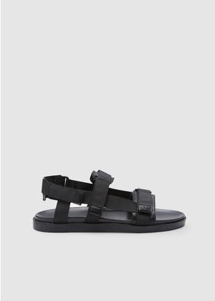 Black Velcro Sandals