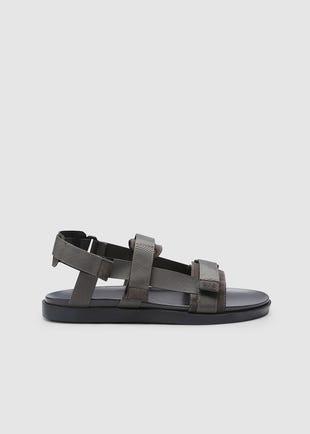 Grey Velcro Sandals