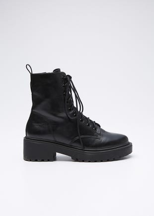 PU Military Boots