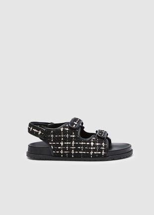 Tweed Sandals