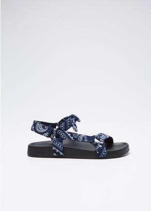 Paisley Strap Sandals