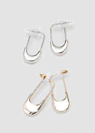 Safety Pin Earring Set