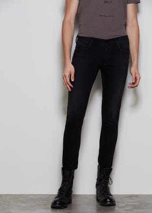 Black Button Fly Jeans